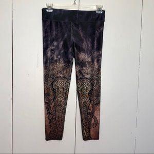 EVCR active elephant design leggings, size L